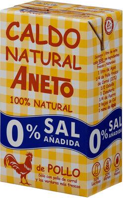 Caldo de pollo natural 0% sal añadida envase 1 l - Product