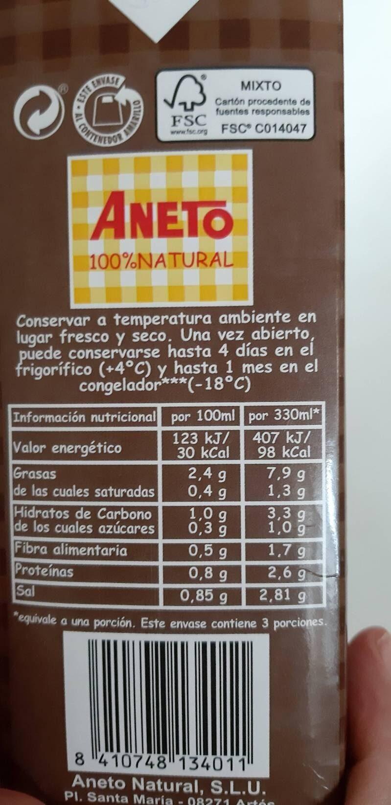 Fideuá caldo con sofrito - Información nutricional
