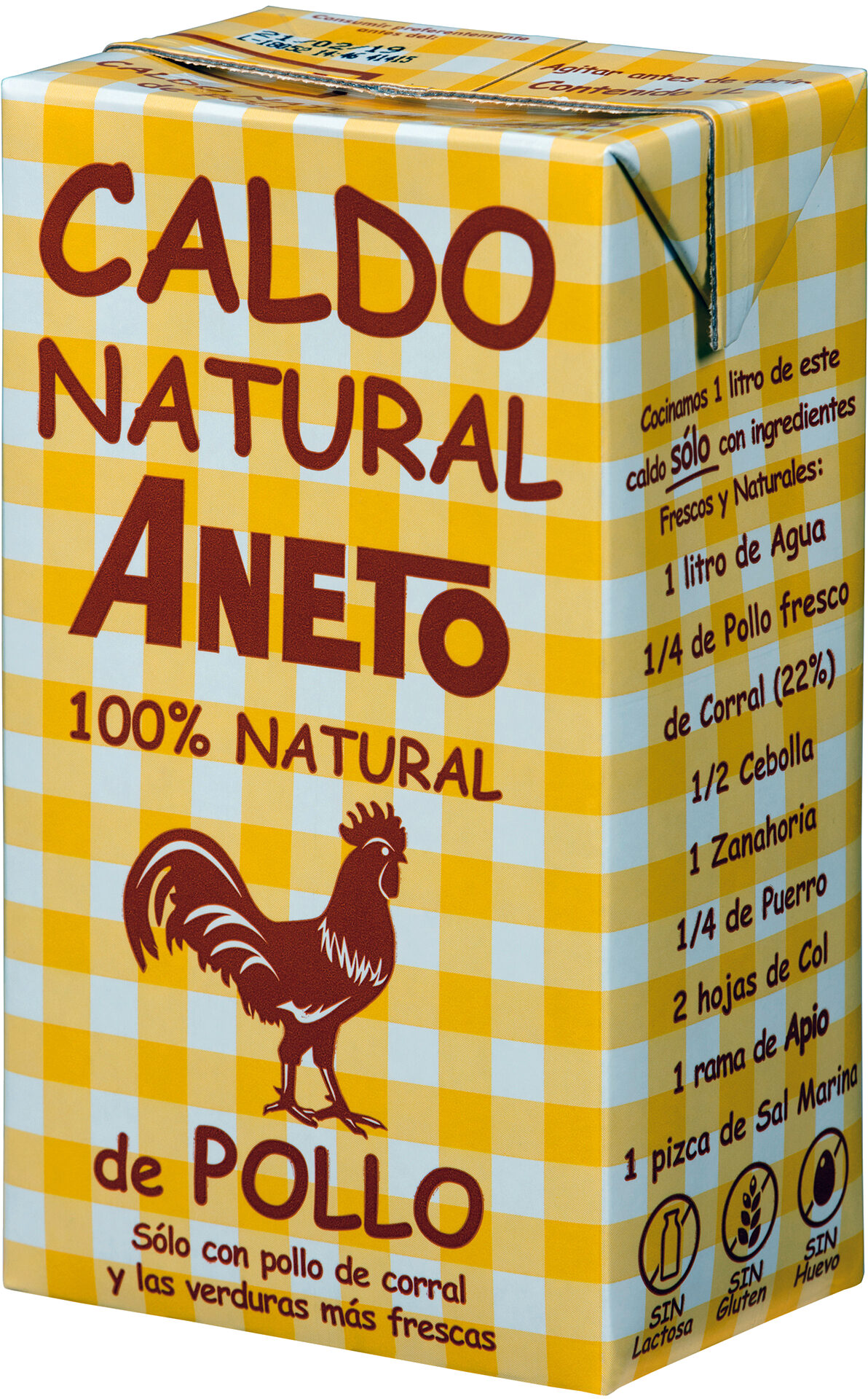 Caldo Natural Aneto de Pollo - Product - es