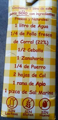 Caldo Natural Aneto de Pollo - Ingredients - es