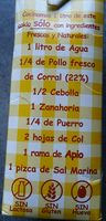 Caldo natural Aneto Pollo Brick - Ingredients