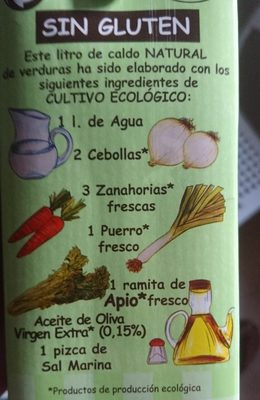 Caldo Natural Aneto de Verduras de Cultivo Ecológico - Ingredients - fr