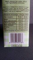 Caldo natural de verduras ecológicas - Informació nutricional