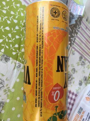 Agua mineral natural con gas sabor naranja - Información nutricional