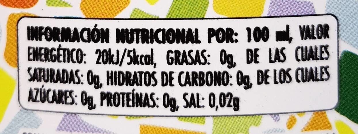 Agua mineral natural con gas sabor limón - Voedingswaarden - fr