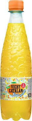 Agua mineral natural con gas sabor naranja - Product - es