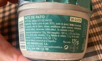 Paté de Pato - Nutrition facts - es