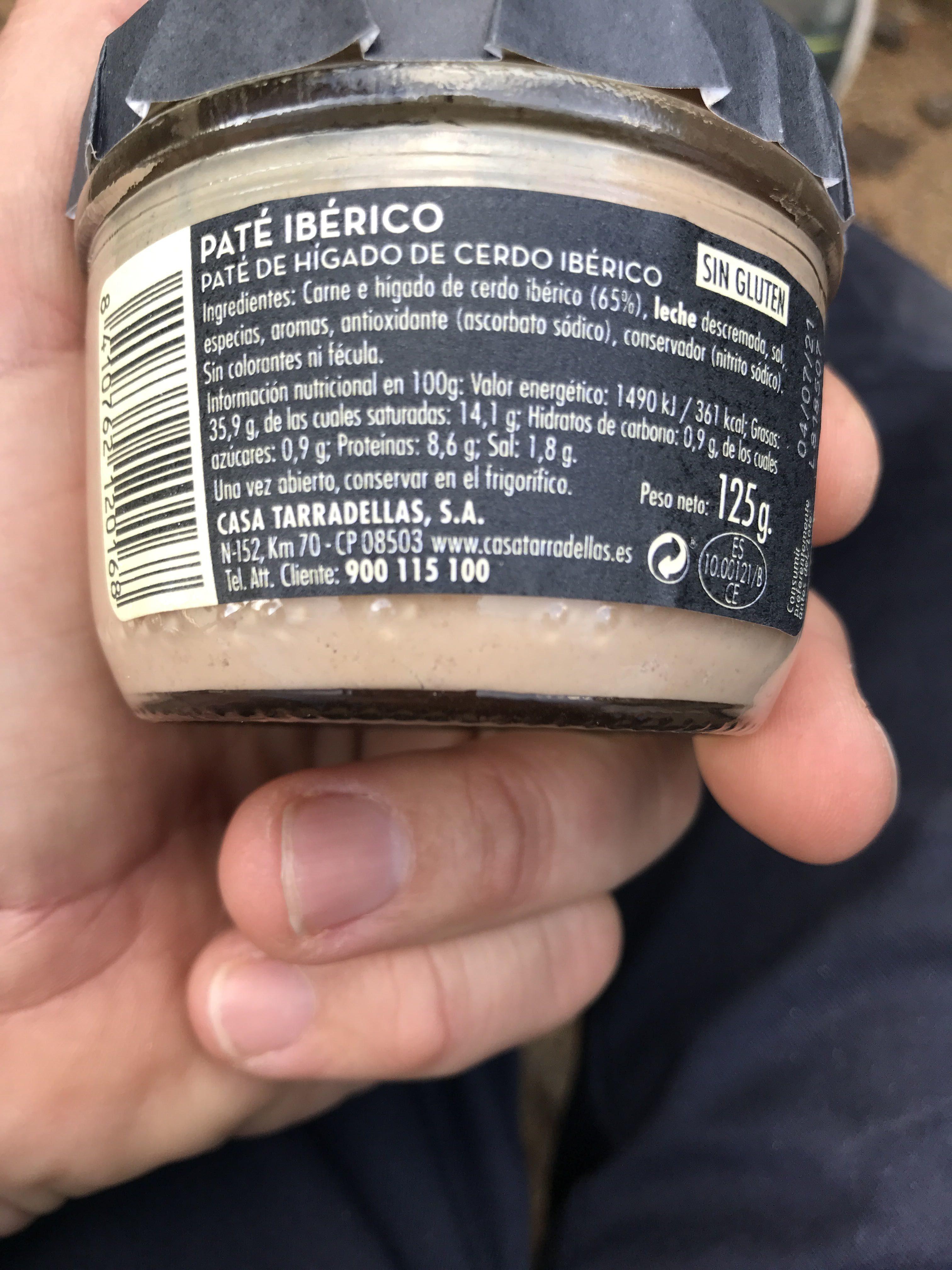 Casa Tarradellas Paté D'ibèric - Product - es