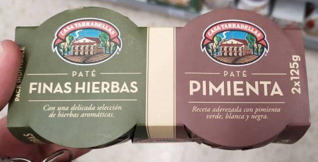Paté finas herbas/pimienta - Product - es