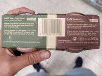 Paté finas herbas/pimienta - Nutrition facts - es