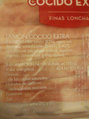 Jamón cocido extra - Product - en