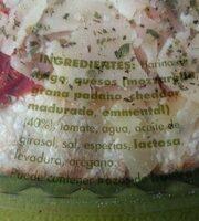 Pizza 4 quesos - Ingredients - es