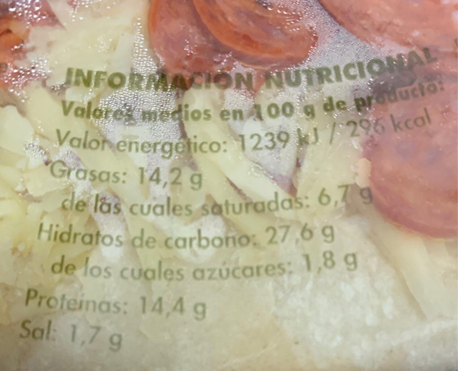 Pizza de pepperoni - Nutrition facts - fr