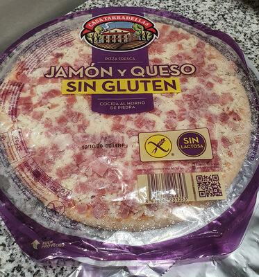 Pizza Fresca Jamón y Queso sin gluten, sin Lactosa - Producto - es
