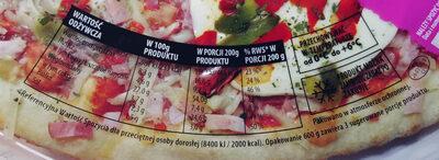 Pizza z boczkiem i serem mozzarella - Voedingswaarden - pl