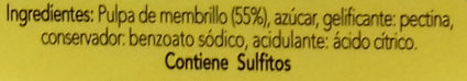 Membrillo - Ingredientes