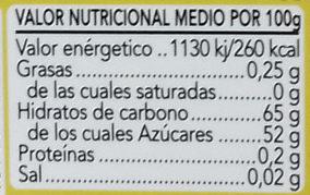 Membrillo - Información nutricional