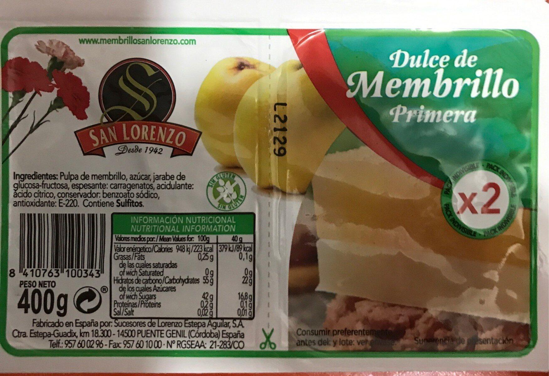 Dulce de membrillo - Producto