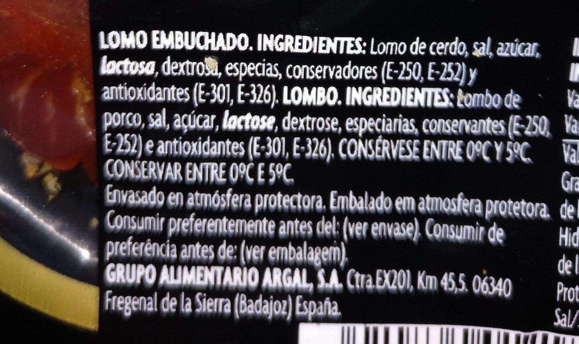 Lomo de Extremadura - Nutrition facts - es