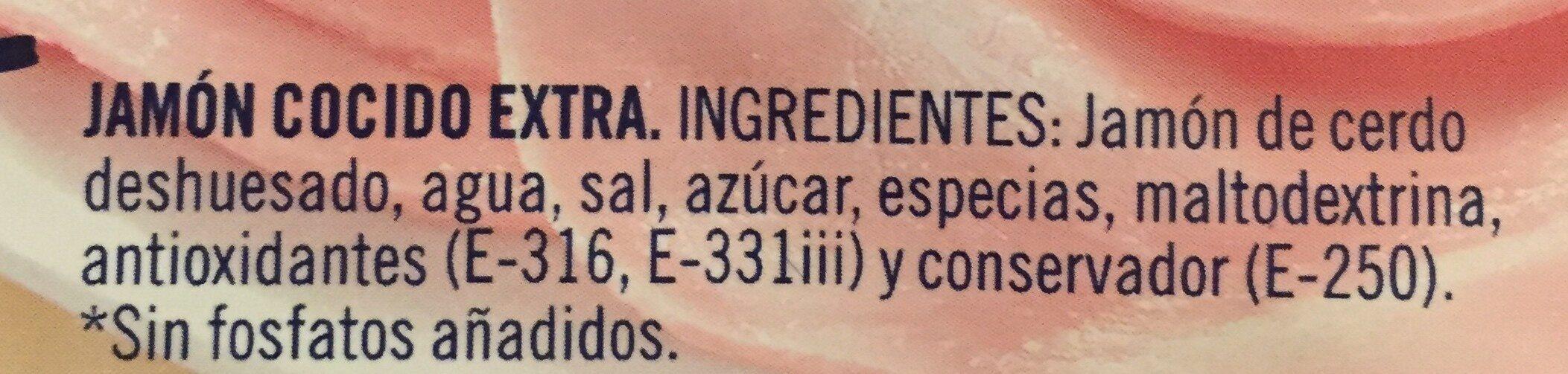 Jamón cocido extra - Ingredientes - es