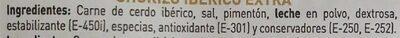 Chorizo iberico - Ingredients - es