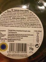 Jamón Extremadura - Informations nutritionnelles - fr