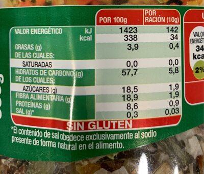 Sopa Juliana - Información nutricional