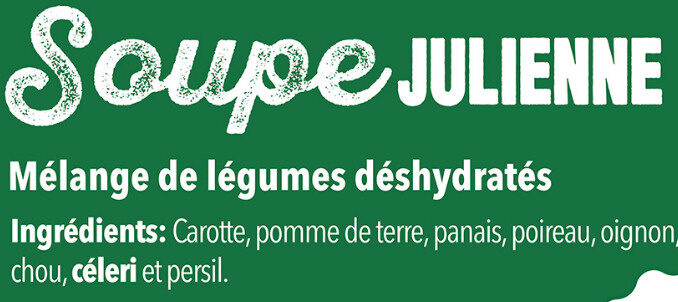 Sopa juliana - Ingrédients - fr
