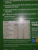Sopa juliana - Nutrition facts - es