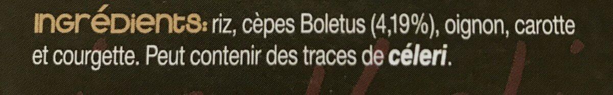 Risotto de hongos - Ingrédients - fr