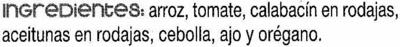 Trevijano, mediterranean risotto - Ingredients