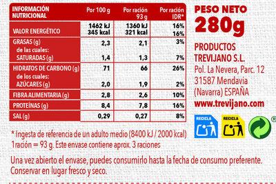 Risotto Mediterráneo - Información nutricional