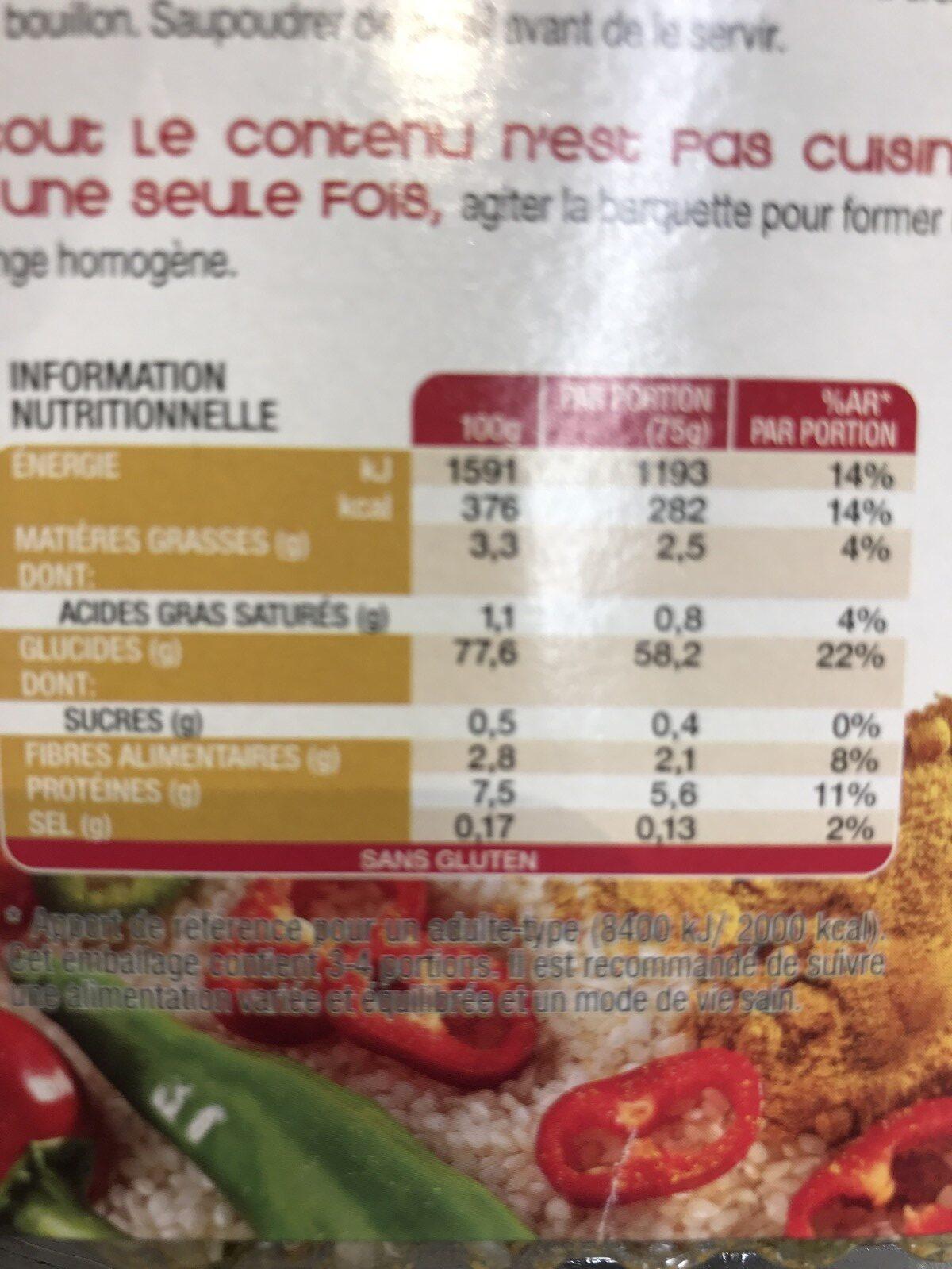 Risotto al curry - Ingrédients - fr