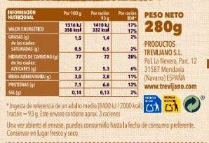 Risotto al curry - Información nutricional - es