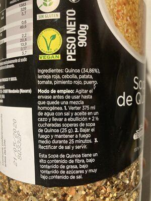 Sopa de Quinoa - Produit - fr