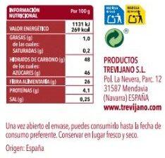 Tomate Deshidratado - Trevijano - 70 G - Informação nutricional