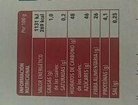 Tomate Deshidratado - Trevijano - 70 G - Informació nutricional - es
