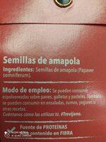 Semillas de amapola - Ingredientes - es