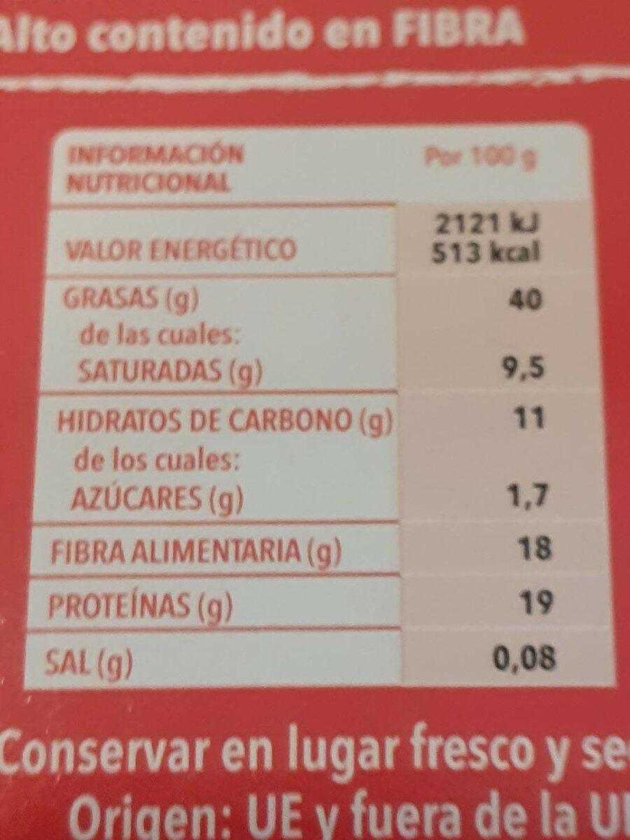 Semillas de amapola - Información nutricional - es