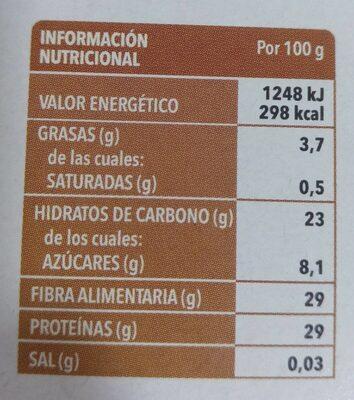 Setas Boletus edulis deshidratadas - Informació nutricional