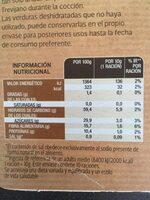 Sopa juliana de mar - Nutrition facts - es