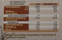 Couscous Marocain - Información nutricional