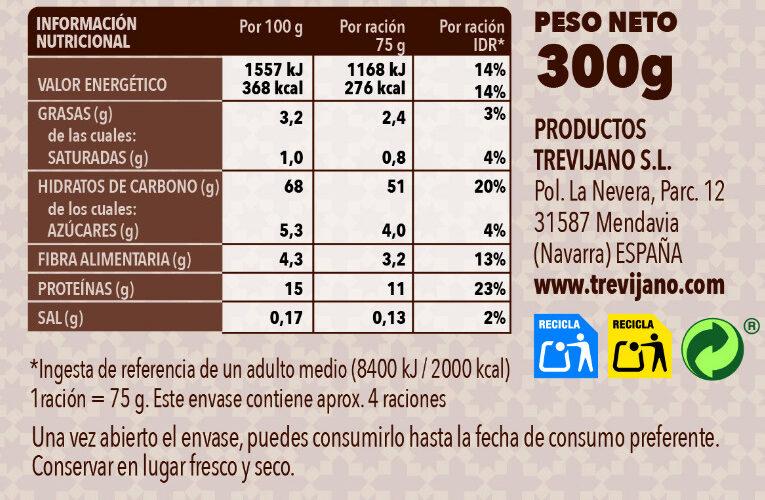 Cous Cous Marroquí - Nutrition facts