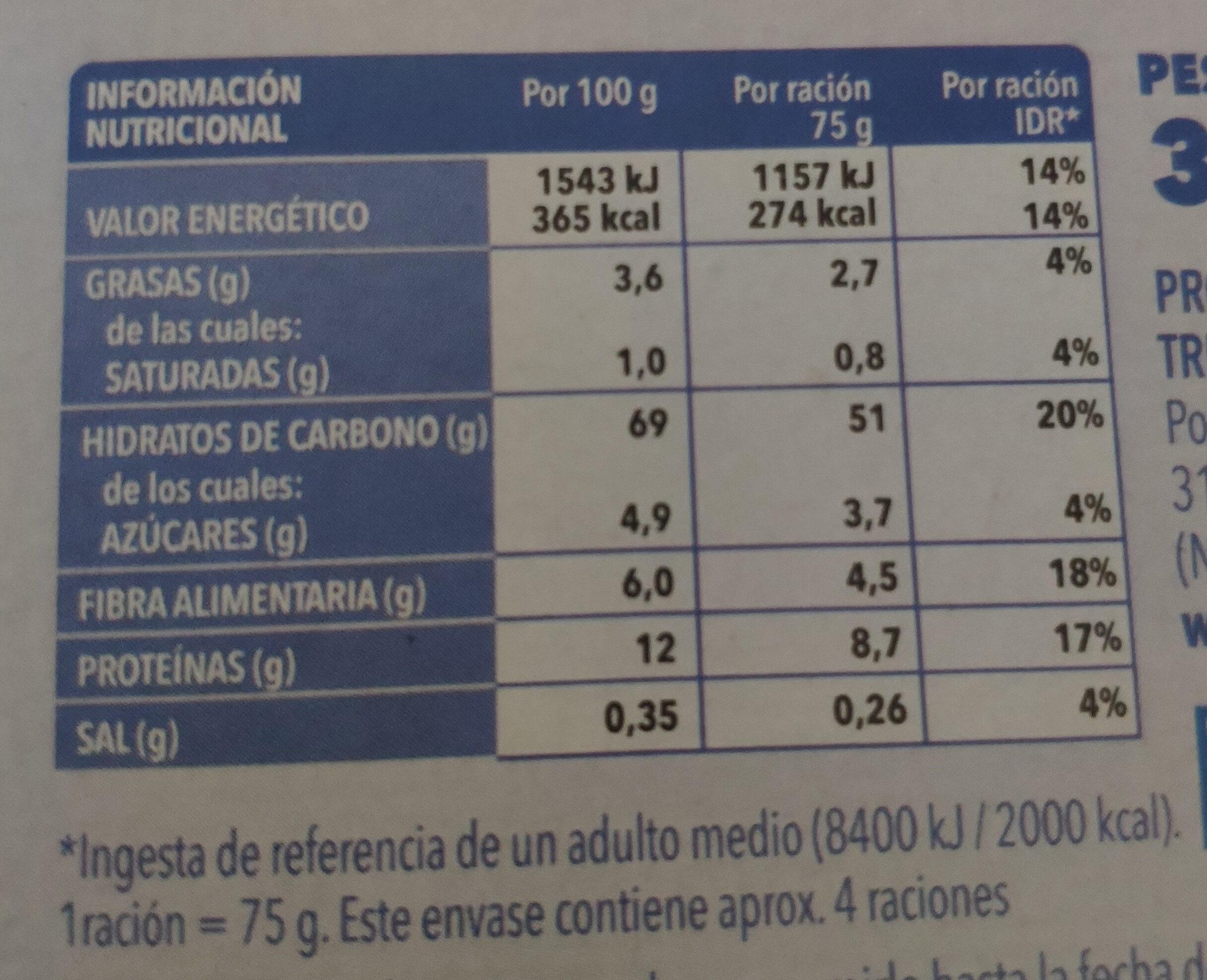 Cous cous mediterráneo - Información nutricional - es