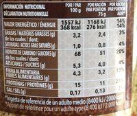 MOROCCAN COUS COUS WITH DEHYDRATED VEGETABLES - Información nutricional - en