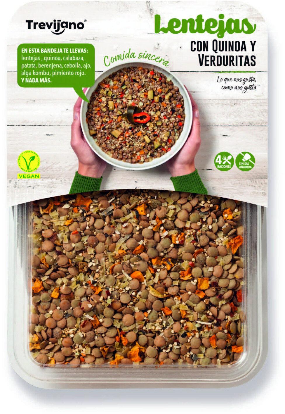 Lentejas con Quinoa y Verduritas - Product