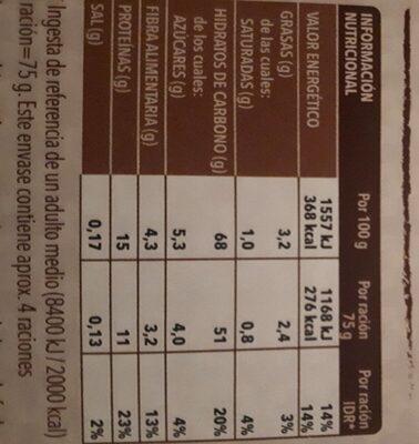 Cous cous marroquí - Información nutricional - es