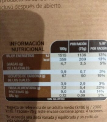 Risotto toscana - Informations nutritionnelles - es