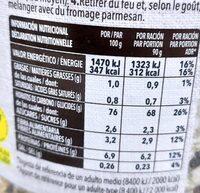 Risotto de Shiitake y Boletus - Información nutricional - es