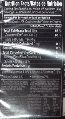 Turrón de cacahuete refinado - Información nutricional - es